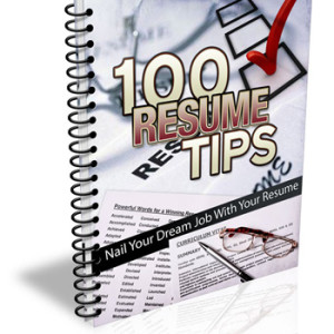 100 Resume Writing Bus. Tips Cover
